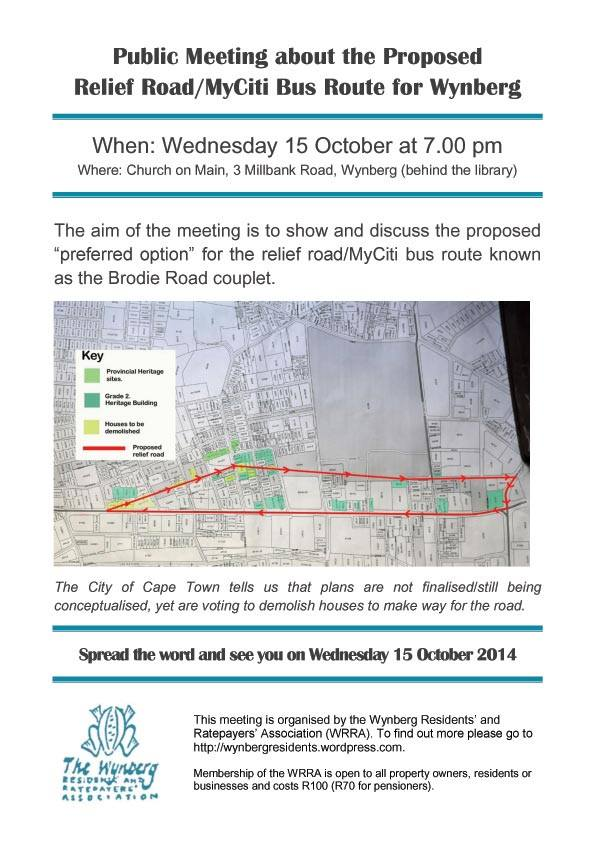 Public Meeting About the Proposed Relief Road